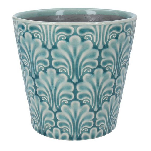 Gisela Graham Ceramic Blue Pot Cover