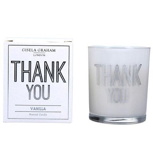 Gisela Graham Boxed Sentiment Candle - Thankyou