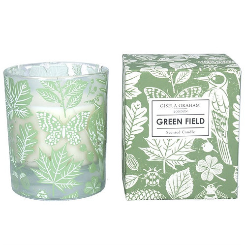 Gisela Graham Large Boxed Candle - Green Field