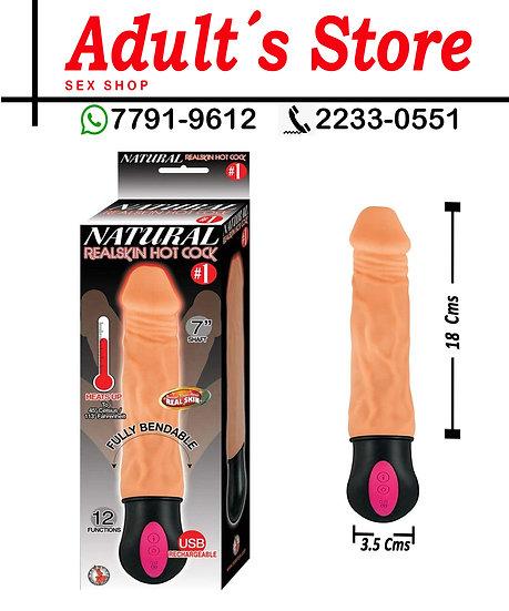 Vibrador Natural Real Skin Hot Cock #1 7´´