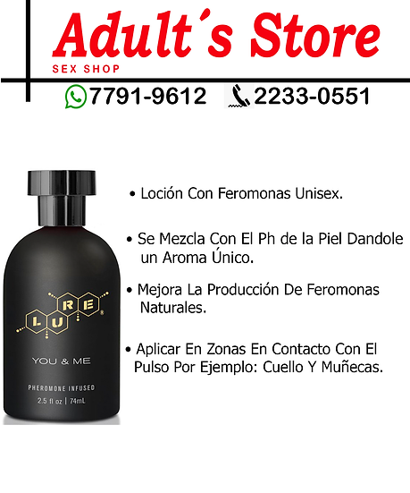 Loción Con Feromonas Lure you & Me Unisex