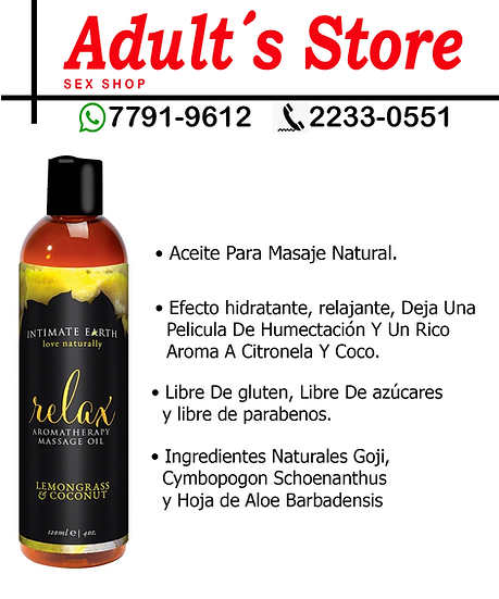 Aceite Para Masage Intimate Earth Relax