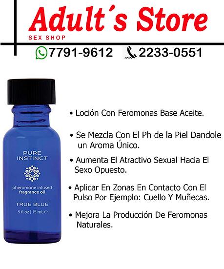 Aceite Con Feromonas Pure Instintc  true Blue