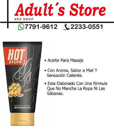 Aceite Para MAsaje Hot Stuff