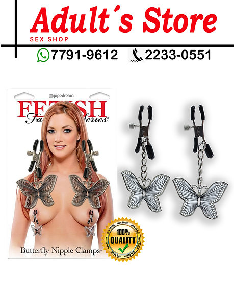 Fetish Pinzas para Pezones Butterfly Clamps