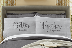 Personalized Couples Pillow Set
