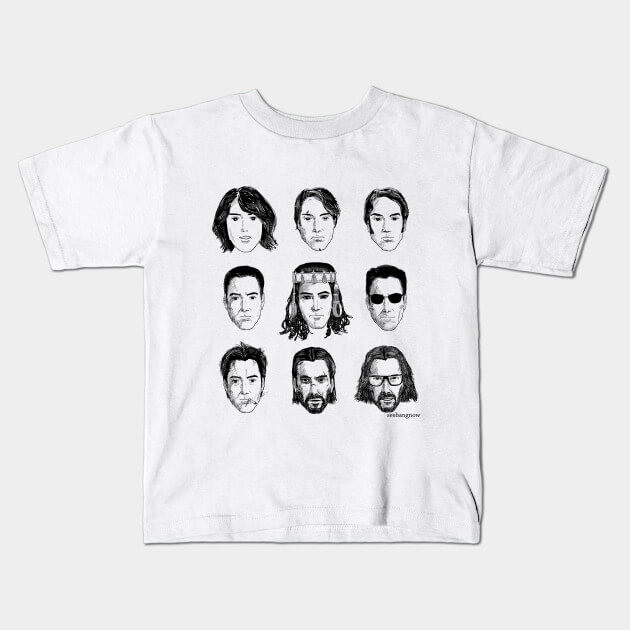 A Keanu Reeves tee is a cool and funny white elephant exchange gift.