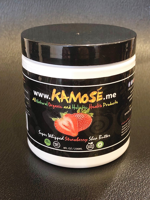 8 oz Kamosé Strawberry Whipped Shea Butter.