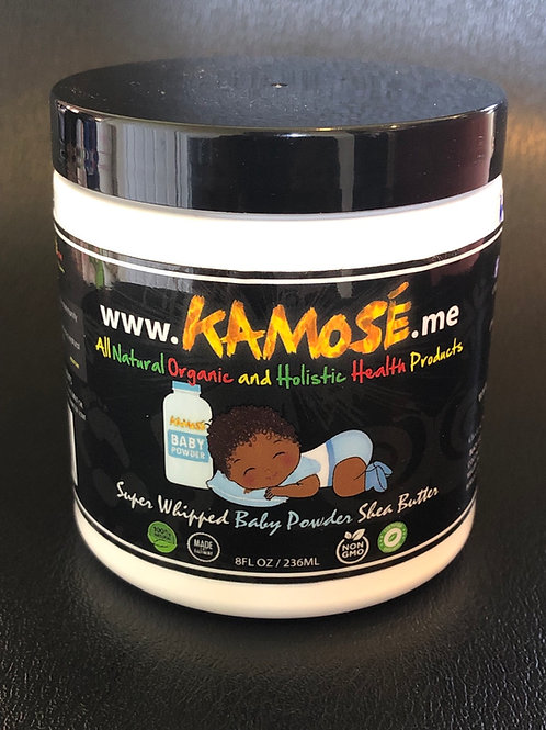 8 oz Baby Powder Super Whipped Shea Butter