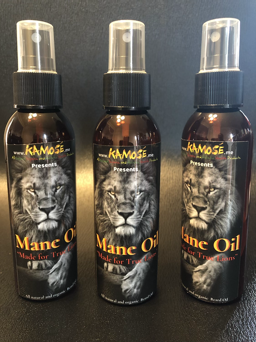 MANE OIL:    All natural and organic beard oil