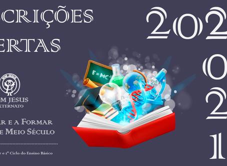 INSCRIÇÕES ABERTAS | 2020-2021