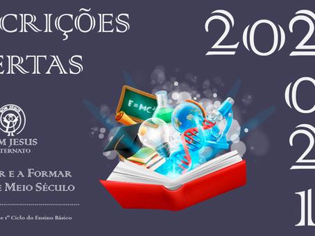 INSCRIÇÕES ABERTAS   2020-2021