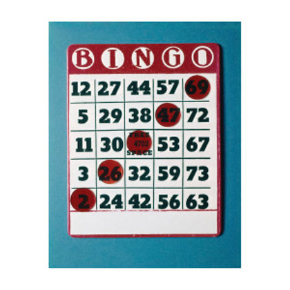 Bingo Cards With Chips