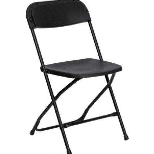 New Black Plastic Chair