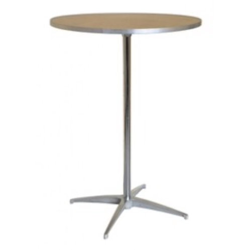 """30"""" Round Wooden Cocktail Table"""