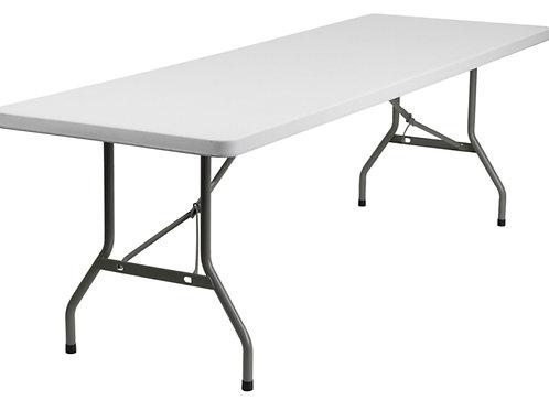 8' Plastic Banquet Table