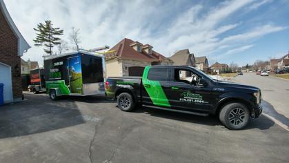 Entretien tous en un - truck and trailer combo