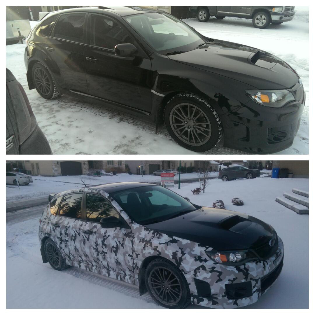 subaru camo before and after