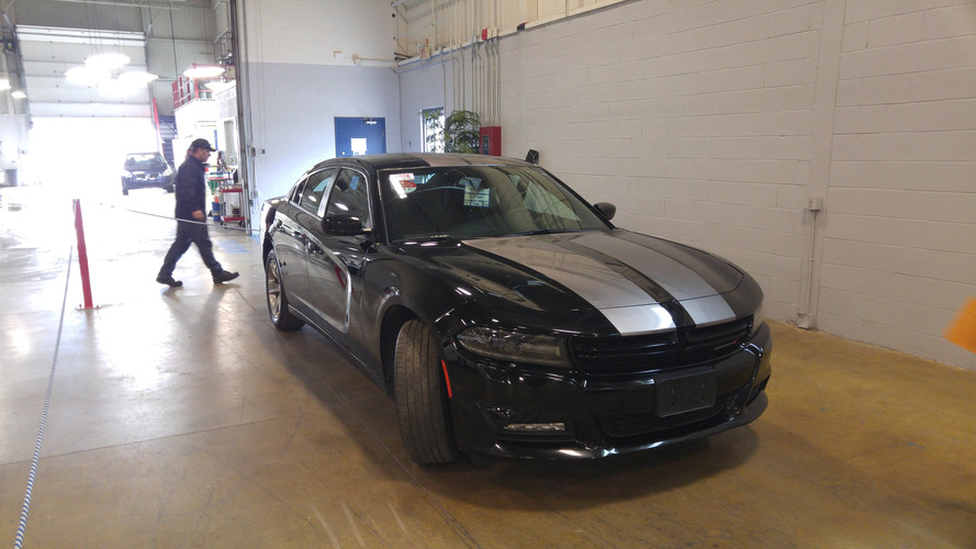 silver stripes on charger