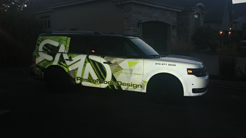 RMD ford flex - Full reflective wrap at night