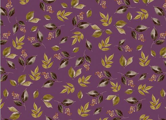 Falling Leaves in plum