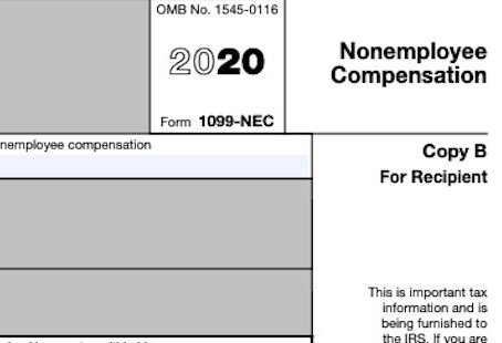 New 1099 NEC