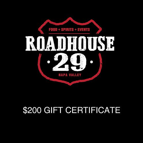 ROADHOUSE29 Gift Card