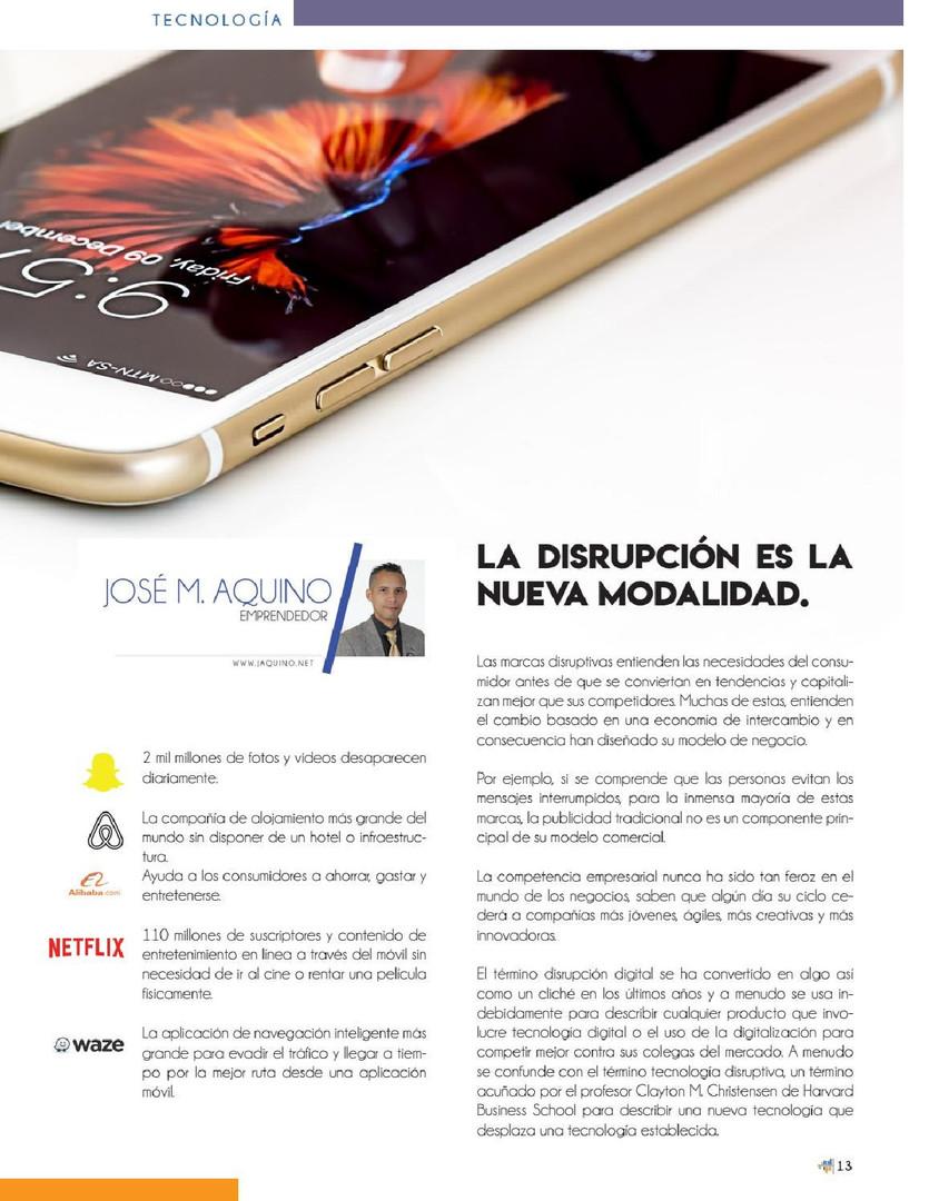 Disrupción Digital en Tiempos Modernos por José M. Aquino