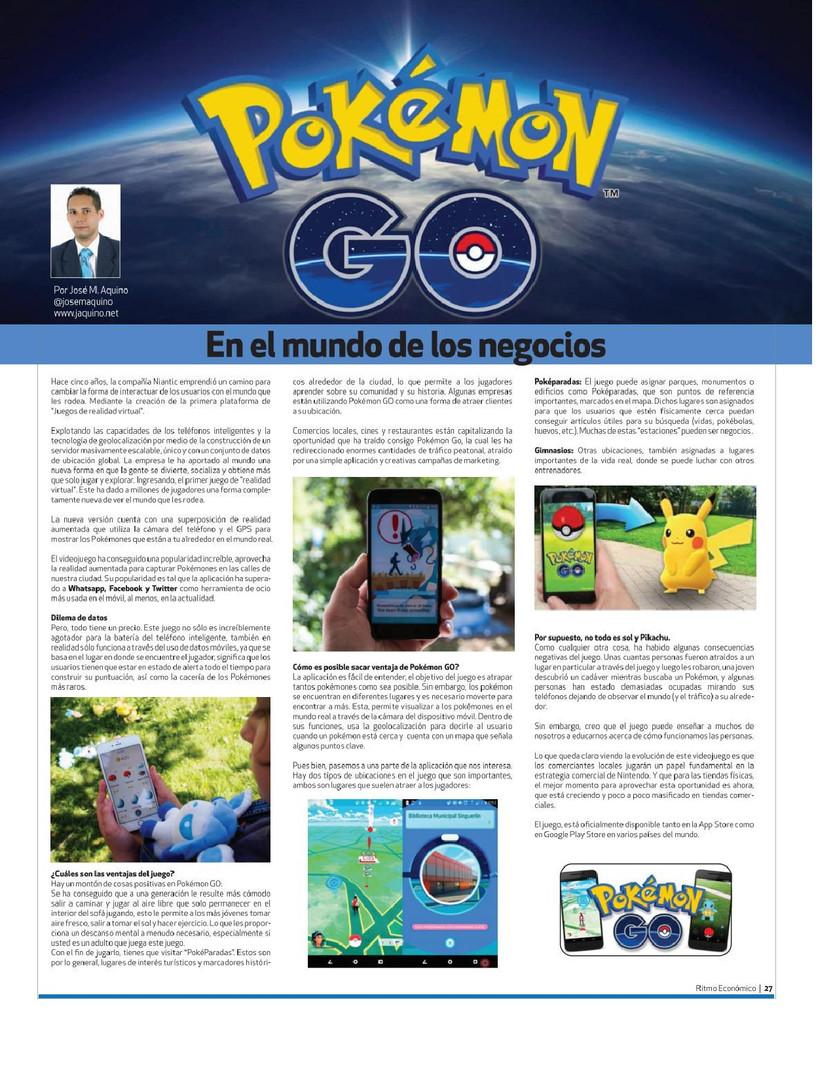 Pokemon Go en el Mundo de los negocios