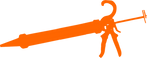 Professional caulking gun (orange icon)