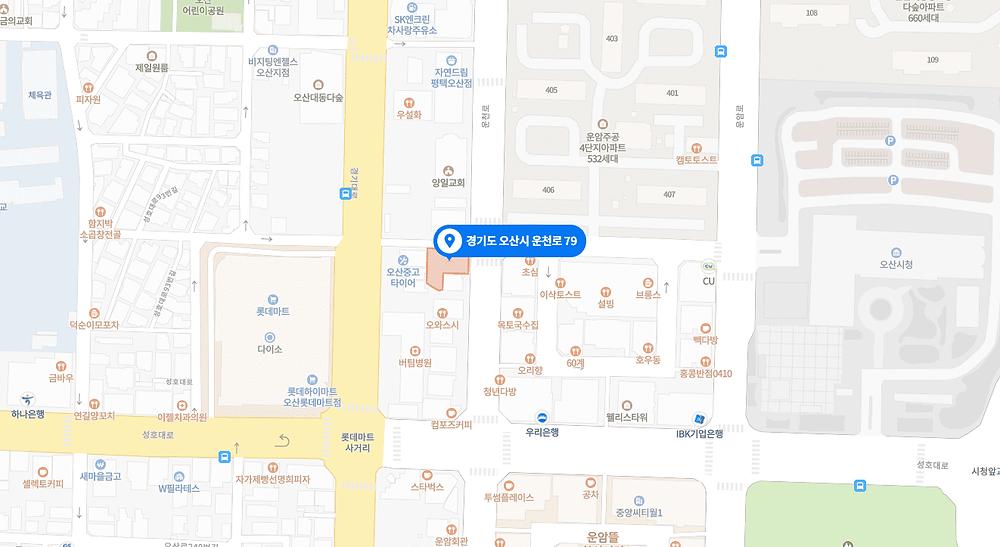 오산동 마사지 구인구직 지도