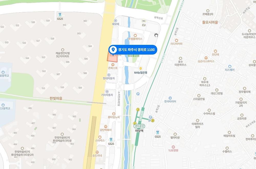 파주 마사지 구인구직 지도