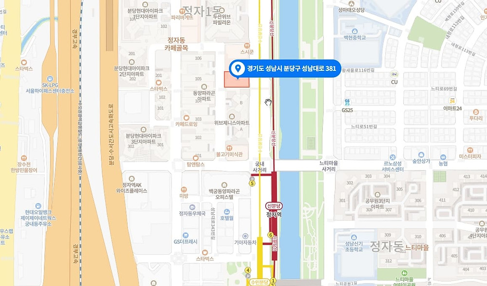 성남 고수익알바  지도