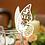 Thumbnail: Plaatskaartje vlinder parelachtig glans