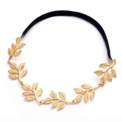 Haaraccessoire blad goud haarband
