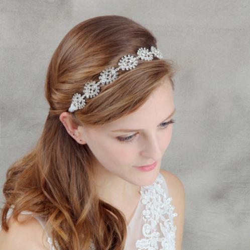 Haaraccessoire steentjes zilver haarband