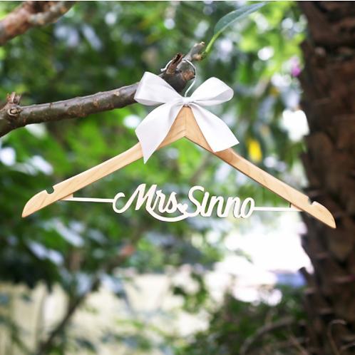 Bruidsjurk hanger gepersonaliseerd