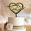 Thumbnail: Bruidstaart topper hout in hartvorm