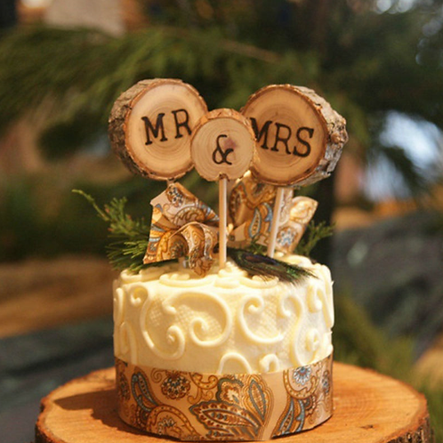 Mr & Mrs bruidstaart topper