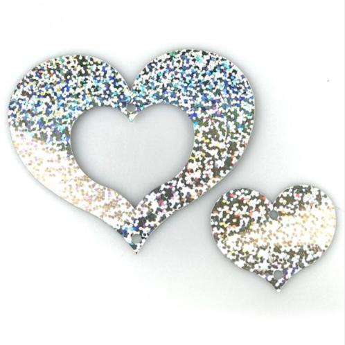 Ballonhangers zilver in hartvorm