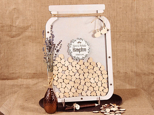 Unieke gastenboek Mason Jar