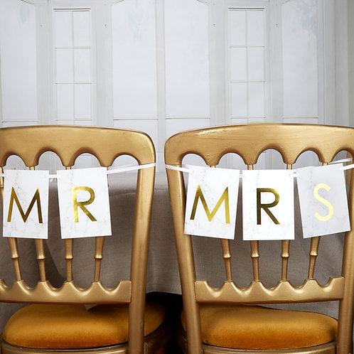 Marmer goud Mr & Mrs slinger