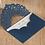 Thumbnail: Trouwkaart marineblauw sierlijk