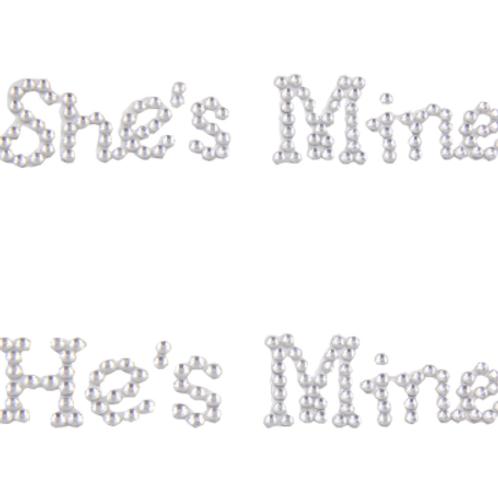 Schoenstickers She's mine & He's mine