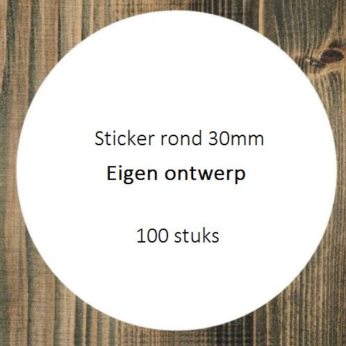 Sticker rond 30mm eigen design