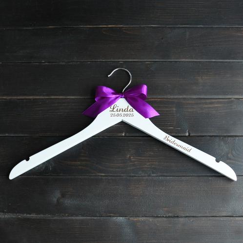 Gepersonaliseerde kledinghanger bridesmaid