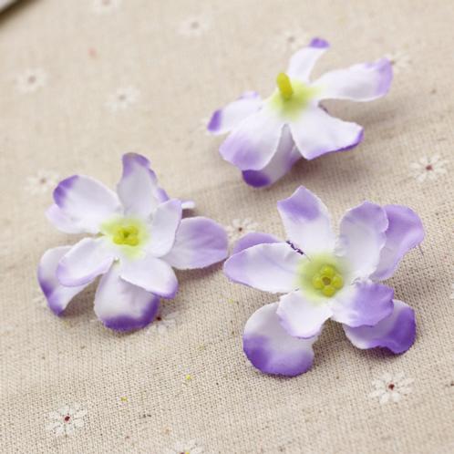 Tafeldecoratie zijde bloemen paars