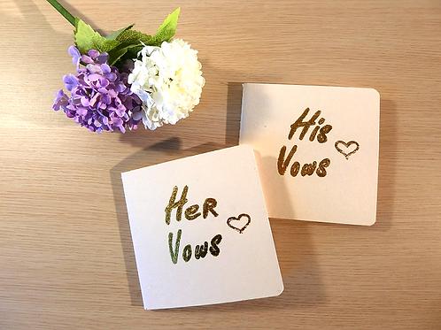 Gelofte boekje his & her vows beige