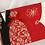 Thumbnail: Trouwkaart bruid & bruidegom zwart/rood met goude elementen
