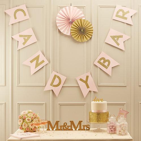 Candybar slinger roze goud